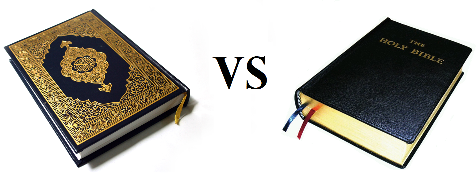 bible vs quran There are many ways in which the sacred texts of christianity and islam cover some of the same territory love, hate, honor, propriety, punishment, charity, greed and so on and so forth both the bible and the koran include a multitude of verses sometimes passages in one section can.